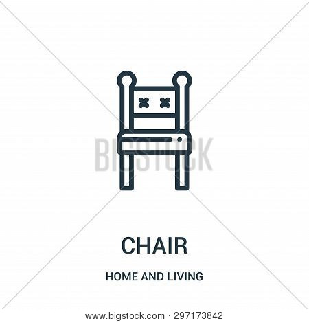 Chair Icon Isolated On White Background From Home And Living Collection. Chair Icon Trendy And Moder