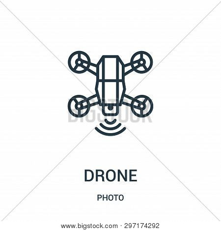 Drone Icon Isolated On White Background From Photo Collection. Drone Icon Trendy And Modern Drone Sy