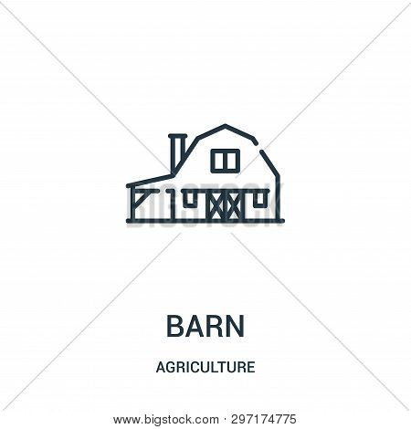 Barn Icon Isolated On White Background From Agriculture Collection. Barn Icon Trendy And Modern Barn