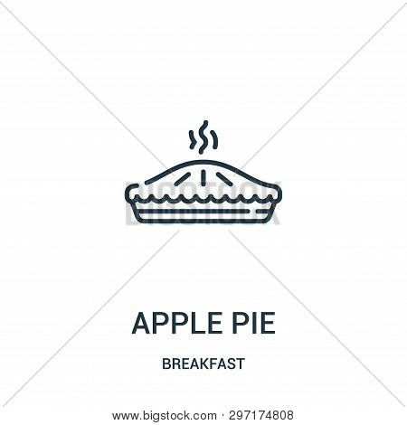 Apple Pie Icon Isolated On White Background From Breakfast Collection. Apple Pie Icon Trendy And Mod