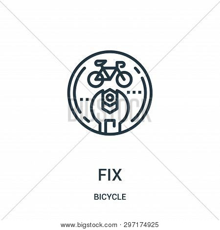 Fix Icon Isolated On White Background From Bicycle Collection. Fix Icon Trendy And Modern Fix Symbol