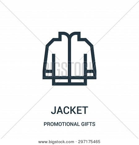 Jacket Icon Isolated On White Background From Promotional Gifts Collection. Jacket Icon Trendy And M