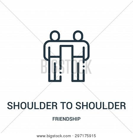 Shoulder To Shoulder Icon Isolated On White Background From Friendship Collection. Shoulder To Shoul