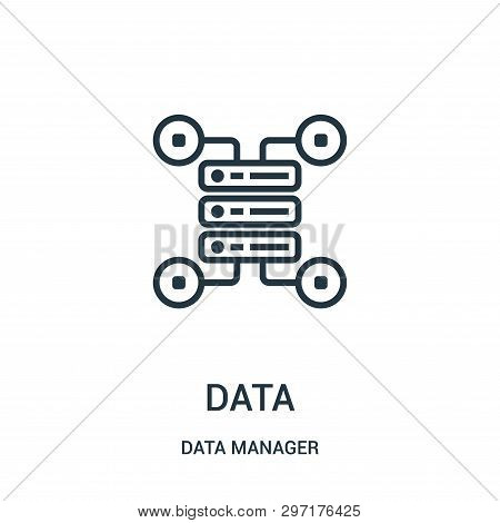 Data Icon Isolated On White Background From Data Manager Collection. Data Icon Trendy And Modern Dat