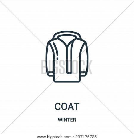 Coat Icon Isolated On White Background From Winter Collection. Coat Icon Trendy And Modern Coat Symb