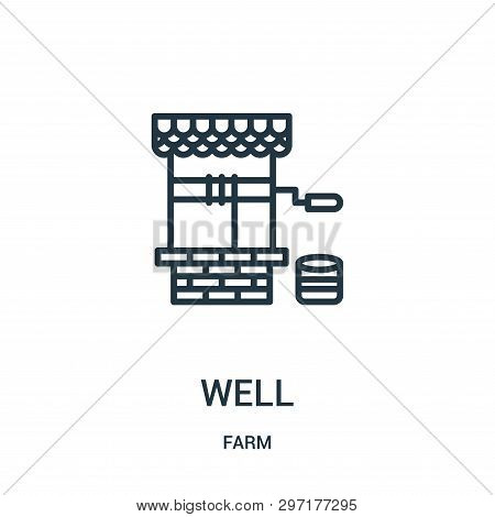 Well Icon Isolated On White Background From Farm Collection. Well Icon Trendy And Modern Well Symbol