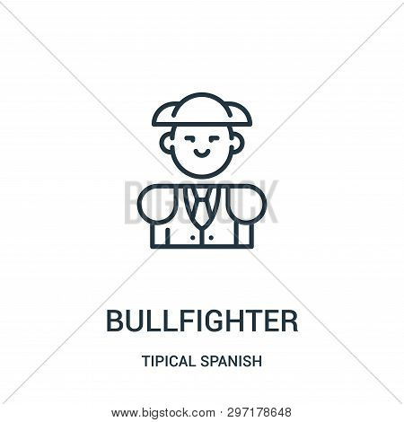 Bullfighter Icon Isolated On White Background From Tipical Spanish Collection. Bullfighter Icon Tren