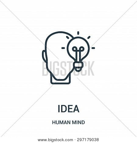 Idea Icon Isolated On White Background From Human Mind Collection. Idea Icon Trendy And Modern Idea