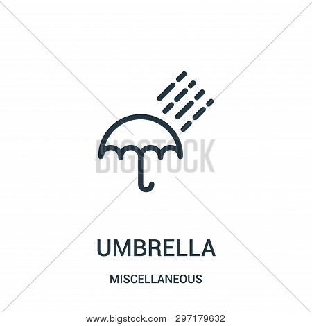 umbrella icon isolated on white background from miscellaneous collection. umbrella icon trendy and modern umbrella symbol for logo, web, app, UI. umbrella icon simple sign. umbrella icon flat vector illustration for graphic and web design. poster