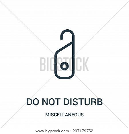 Do Not Disturb Icon Isolated On White Background From Miscellaneous Collection. Do Not Disturb Icon