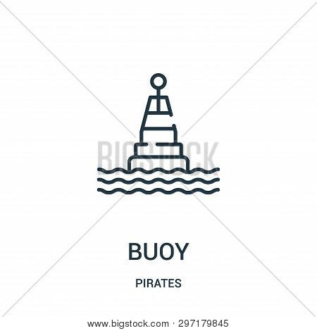 Buoy Icon Isolated On White Background From Pirates Collection. Buoy Icon Trendy And Modern Buoy Sym