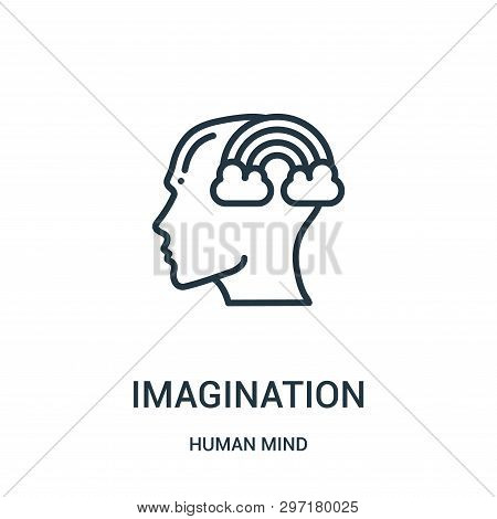 Imagination Icon Isolated On White Background From Human Mind Collection. Imagination Icon Trendy An