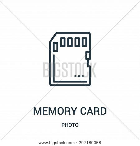 Memory Card Icon Isolated On White Background From Photo Collection. Memory Card Icon Trendy And Mod