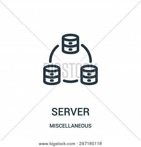 server icon isolated on white background from miscellaneous collection. server icon trendy and modern server symbol for logo, web, app, UI. server icon simple sign. server icon flat vector illustration for graphic and web design. poster