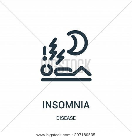 Insomnia Icon Isolated On White Background From Disease Collection. Insomnia Icon Trendy And Modern