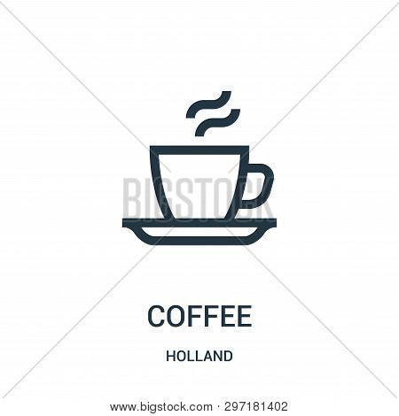 Coffee Icon Isolated On White Background From Holland Collection. Coffee Icon Trendy And Modern Coff