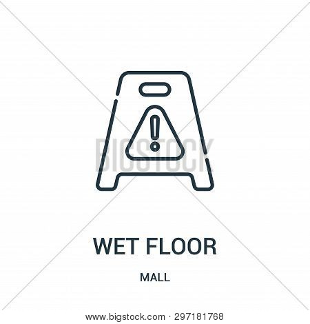 Wet Floor Icon Isolated On White Background From Mall Collection. Wet Floor Icon Trendy And Modern W