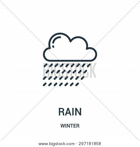 Rain Icon Isolated On White Background From Winter Collection. Rain Icon Trendy And Modern Rain Symb