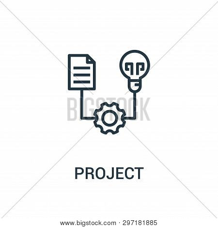 Project Icon Isolated On White Background From Seo Collection. Project Icon Trendy And Modern Projec