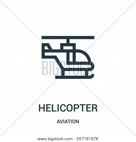 Helicopter Icon Isolated On White Background From Aviation Collection. Helicopter Icon Trendy And Mo