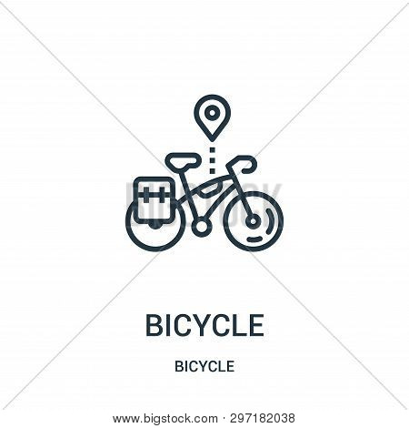 Bicycle Icon Isolated On White Background From Bicycle Collection. Bicycle Icon Trendy And Modern Bi