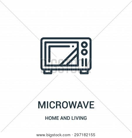 Microwave Icon Isolated On White Background From Home And Living Collection. Microwave Icon Trendy A