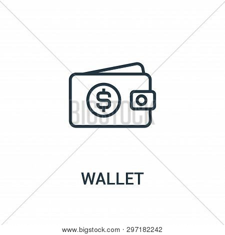 Wallet Icon Isolated On White Background From Seo Collection. Wallet Icon Trendy And Modern Wallet S