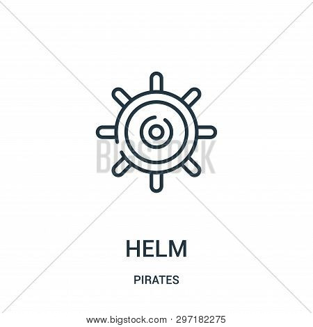 Helm Icon Isolated On White Background From Pirates Collection. Helm Icon Trendy And Modern Helm Sym