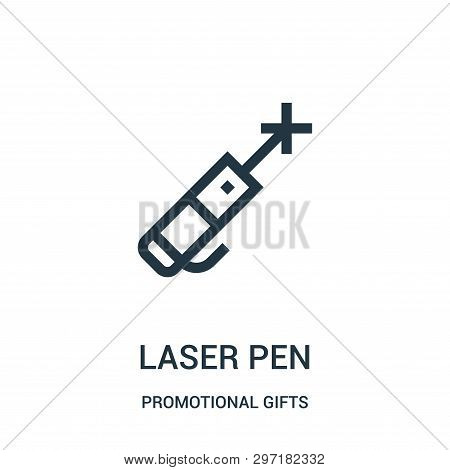 Laser Pen Icon Isolated On White Background From Promotional Gifts Collection. Laser Pen Icon Trendy