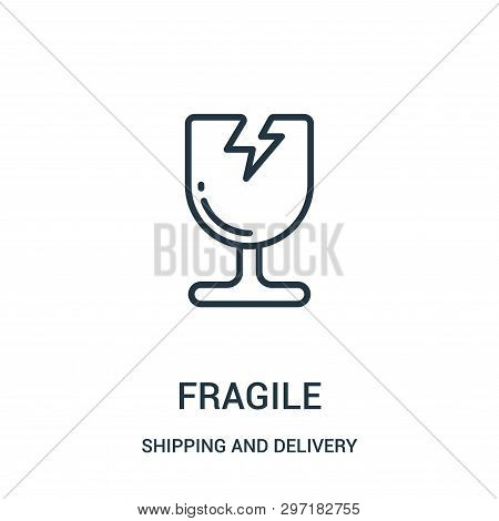 Fragile Icon Isolated On White Background From Shipping And Delivery Collection. Fragile Icon Trendy
