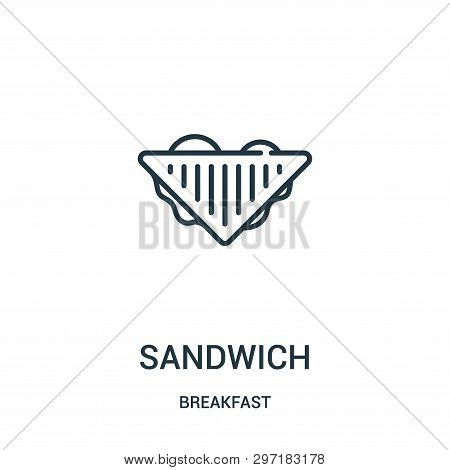 Sandwich Icon Isolated On White Background From Breakfast Collection. Sandwich Icon Trendy And Moder