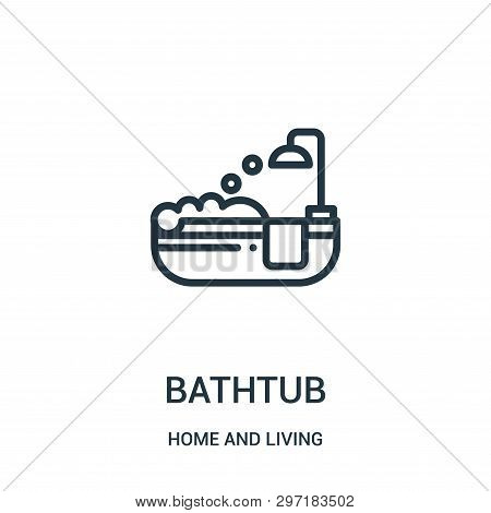 Bathtub Icon Isolated On White Background From Home And Living Collection. Bathtub Icon Trendy And M