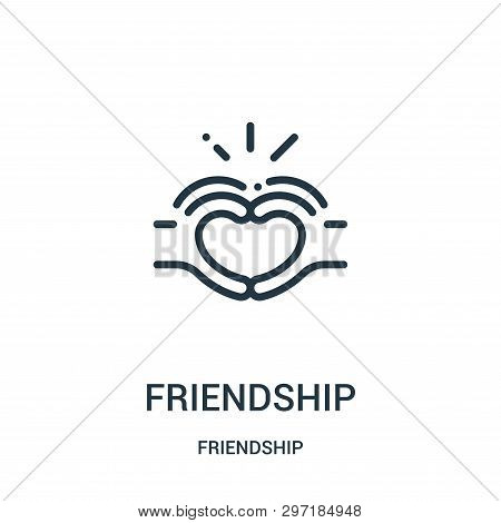 Friendship Icon Isolated On White Background From Friendship Collection. Friendship Icon Trendy And