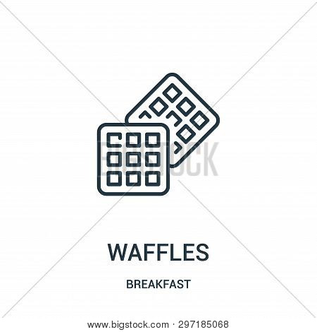 Waffles Icon Isolated On White Background From Breakfast Collection. Waffles Icon Trendy And Modern