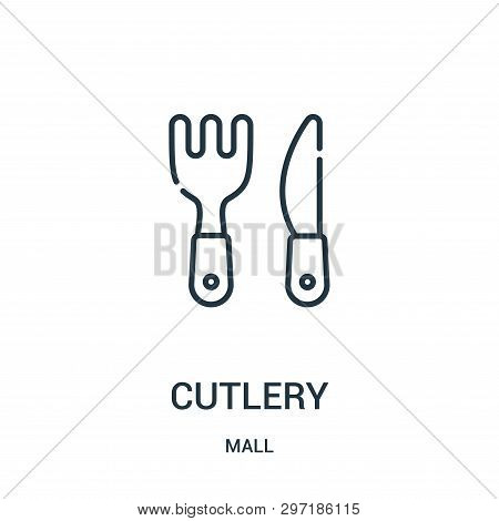 Cutlery Icon Isolated On White Background From Mall Collection. Cutlery Icon Trendy And Modern Cutle