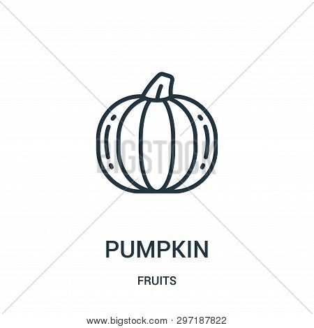 Pumpkin Icon Isolated On White Background From Fruits Collection. Pumpkin Icon Trendy And Modern Pum