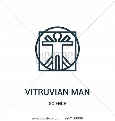 Vitruvian Man Icon Isolated On White Background From Science Collection. Vitruvian Man Icon Trendy A