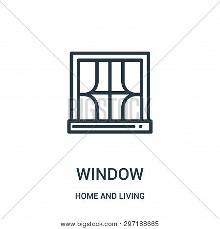 Window Icon Isolated On White Background From Home And Living Collection. Window Icon Trendy And Mod