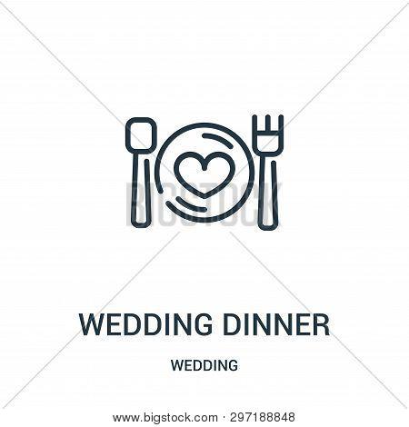 Wedding Dinner Icon Isolated On White Background From Wedding Collection. Wedding Dinner Icon Trendy