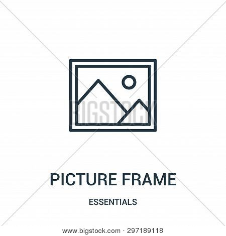 Picture Frame Icon Isolated On White Background From Essentials Collection. Picture Frame Icon Trend