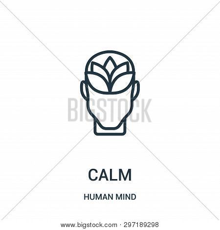 Calm Icon Isolated On White Background From Human Mind Collection. Calm Icon Trendy And Modern Calm