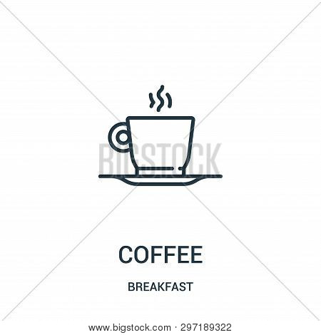 Coffee Icon Isolated On White Background From Breakfast Collection. Coffee Icon Trendy And Modern Co