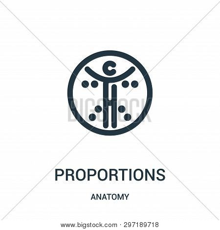Proportions Icon Isolated On White Background From Anatomy Collection. Proportions Icon Trendy And M