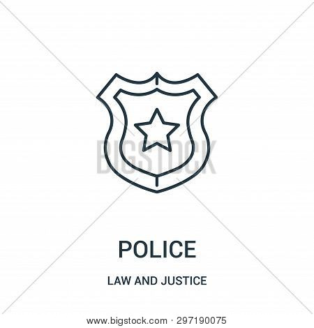 Police Icon Isolated On White Background From Law And Justice Collection. Police Icon Trendy And Mod
