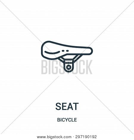 Seat Icon Isolated On White Background From Bicycle Collection. Seat Icon Trendy And Modern Seat Sym