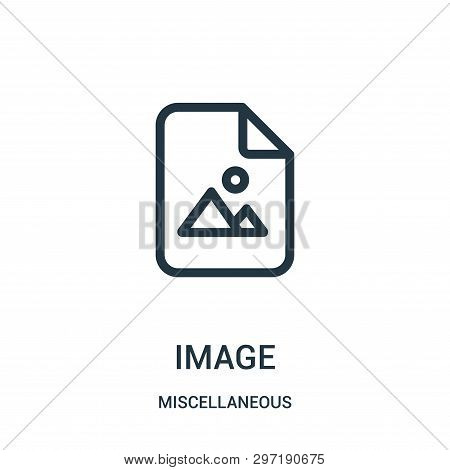 image icon isolated on white background from miscellaneous collection. image icon trendy and modern image symbol for logo, web, app, UI. image icon simple sign. image icon flat vector illustration for graphic and web design. poster