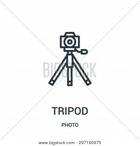 Tripod Icon Isolated On White Background From Photo Collection. Tripod Icon Trendy And Modern Tripod