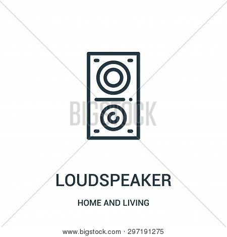 Loudspeaker Icon Isolated On White Background From Home And Living Collection. Loudspeaker Icon Tren