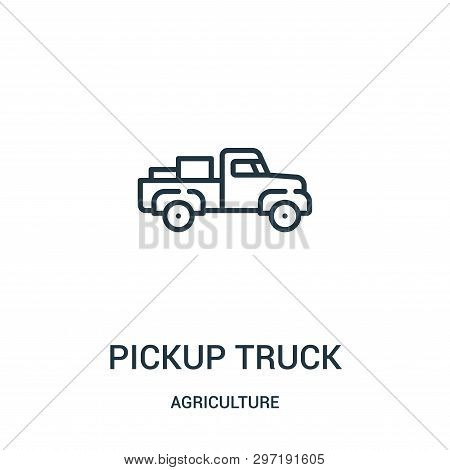 Pickup Truck Icon Isolated On White Background From Agriculture Collection. Pickup Truck Icon Trendy