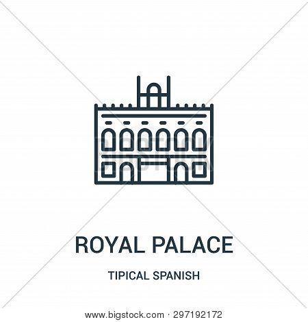 Royal Palace Icon Isolated On White Background From Tipical Spanish Collection. Royal Palace Icon Tr